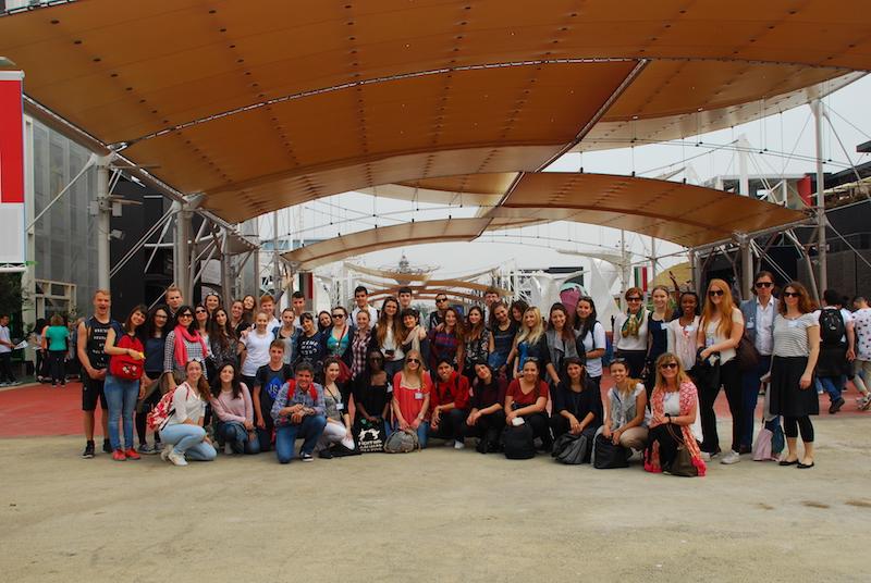 Delegaciones alumnos y profesores coordinadores: Visita Expo Milán 2015. 2nd Mobility Meeting