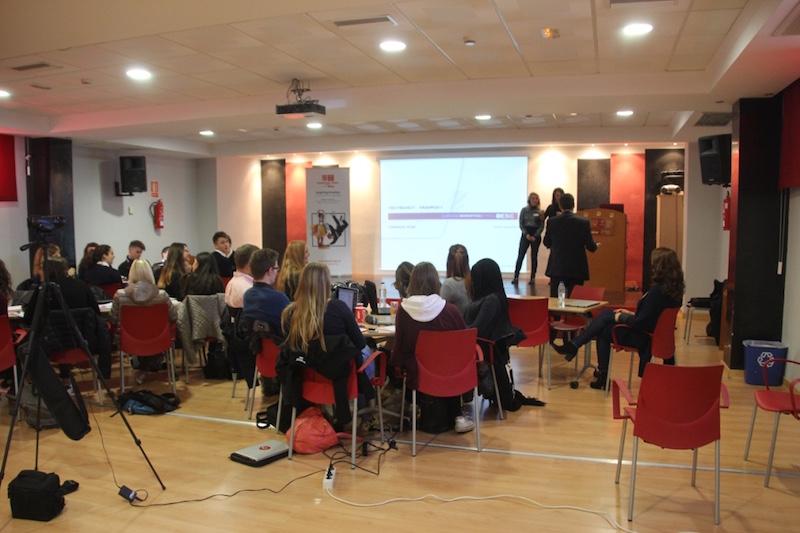 Delegaciones alumnos durante workshop Plan Financiero. 3rd Mobility Meeting, Spain