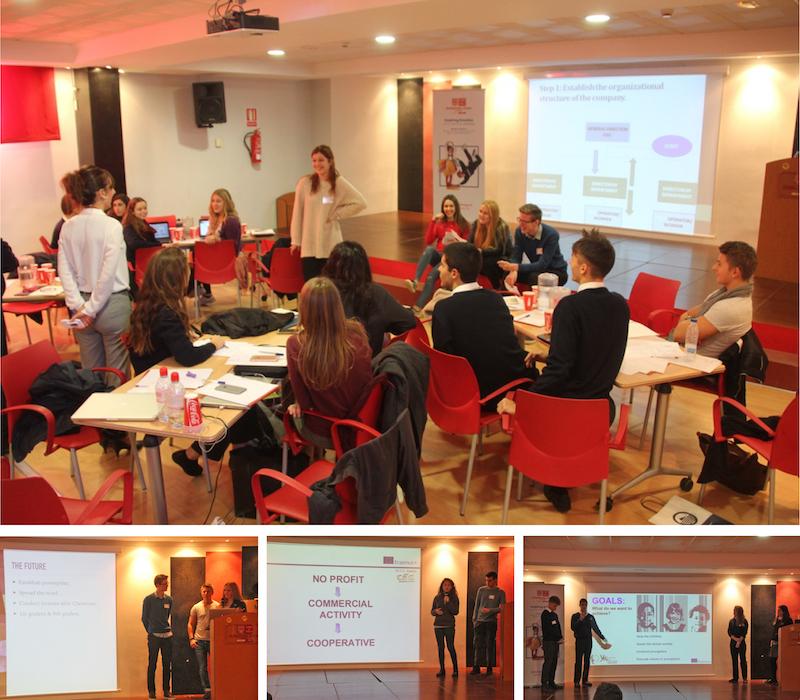Delegaciones alumnos durante workshop Plan Recursos humanos. 3rd Mobility Meeting, Spain