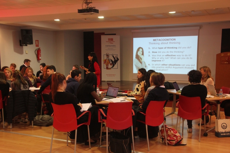 Delegaciones alumnos durante sesión TBL. 3rd Mobility Meeting, Spain