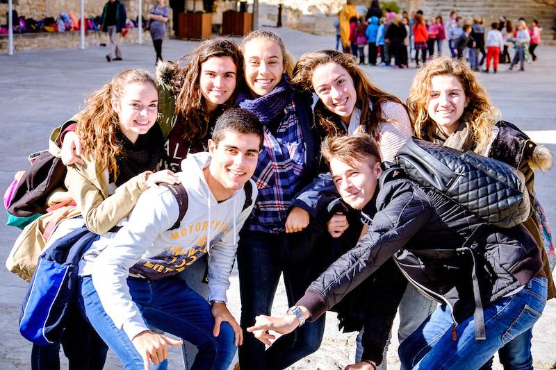 Delegación española durante la visita al Castillo S. Bárbara. 3rd Mobility Meeting, Spain