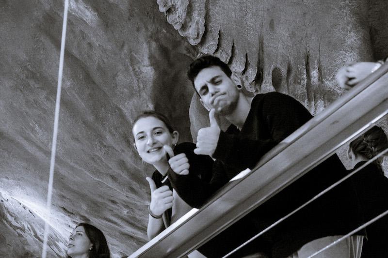 Alumnos durante la visita al MARQ de Alicante. 3rd Mobility Meeting, Spain