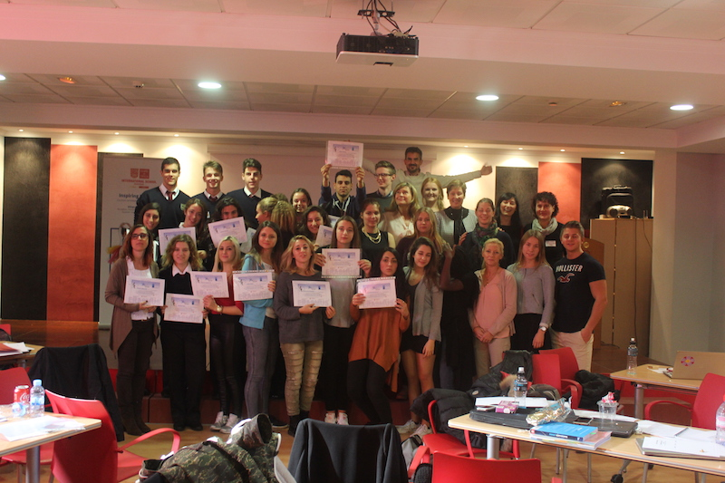 Entrega de diplomas, 3rd Mobility Meeting, Spain