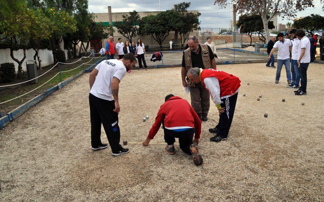 Los alumnos de TAFAD en el Torneo de Petanca del Doble Amor