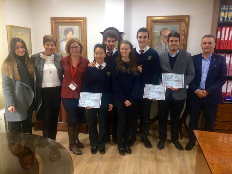 El equipo del Colegio, semifinalista en el Torneo de Debate Montpellier